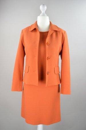 Piu Piu Kostüm in orange Kleid und Blazer Größe 38
