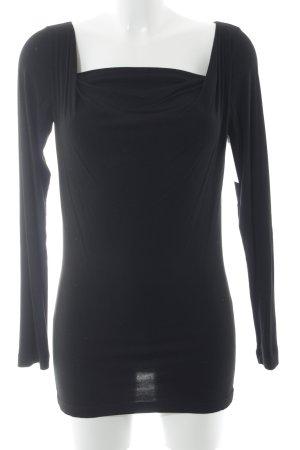 Piú & Piú Longshirt schwarz Casual-Look