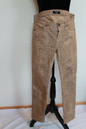 Piú & Piú Lage taille broek veelkleurig Katoen