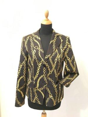 Piu piu made in italy Versacelike 40 edel Luxus Kette Gold Goldkettchen schwarz Blazer ital 46 deutsch 40