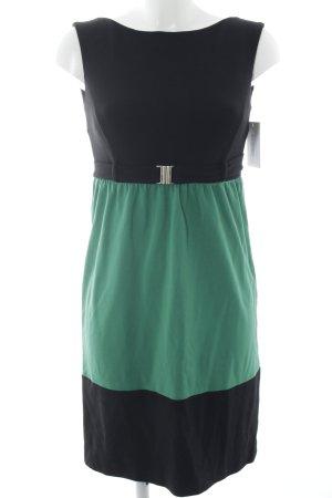 Piú & Piú Minikleid schwarz-grün Casual-Look