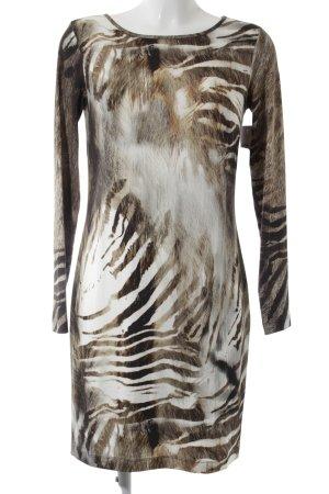 Piú & Piú Vestido de tubo estampado con diseño abstracto estilo extravagante