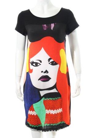 Piú & Piú Shirtkleid Motivdruck extravaganter Stil