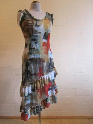 PIU & PIU: Sommerkleid mit Volants, Gr. I/38