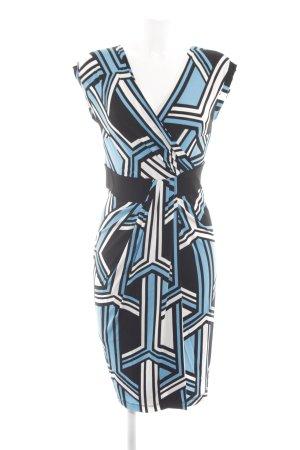 Piú & Piú Stretchkleid abstraktes Muster Business-Look