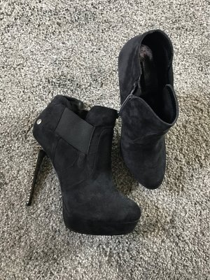 Blink Platform Booties black-silver-colored