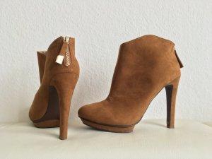 Zara Platform Booties multicolored imitation leather