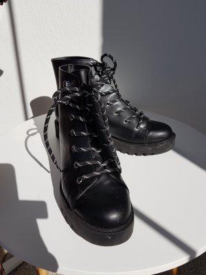 H&M Patucos con plataforma negro