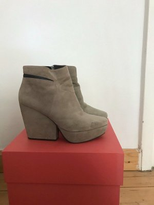 Plateau-Boots / Schuhe Vagabond grau Wildleder