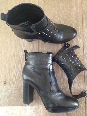 Plateau Boots Stiefeletten  Schwarz Gr.38