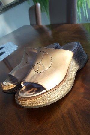 Zapatillas beige Cuero
