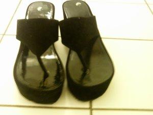 Platform High-Heeled Sandal black synthetic