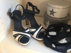 Tommy Hilfiger Plateauzool sandalen wit-donkerblauw