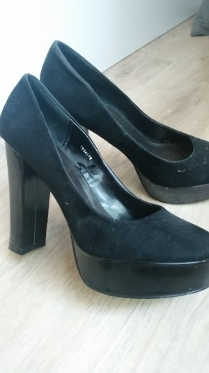 Plateau High Heels in schwarz