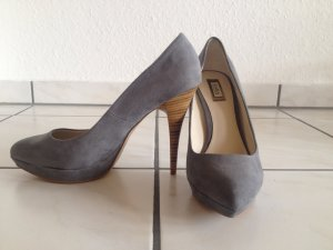Plateau-High Heels in Wildleder-Optik
