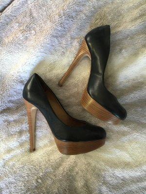 Plateau High-Heels schwarz