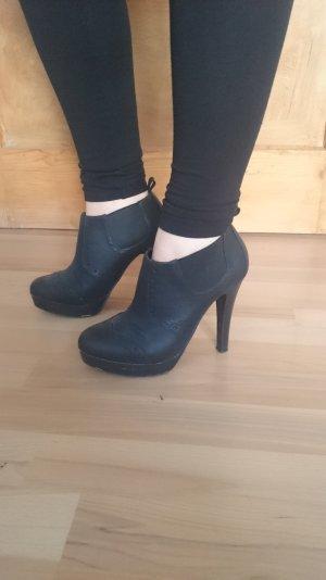 Plateau High Heels Stiefeletten, schwarz, Größe 36