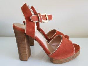 Another A Platform High-Heeled Sandal dark orange