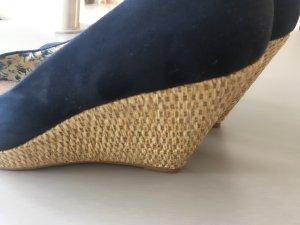 Plateau Keilabsatz Sandalen Gr 39 echtes Leder