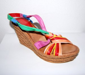 Andrea Conti Platform High-Heeled Sandal multicolored imitation leather