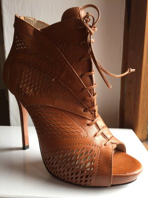 Plateauzool pumps cognac