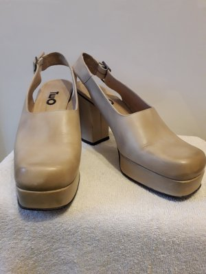 2Two Platform Pumps sand brown-oatmeal leather