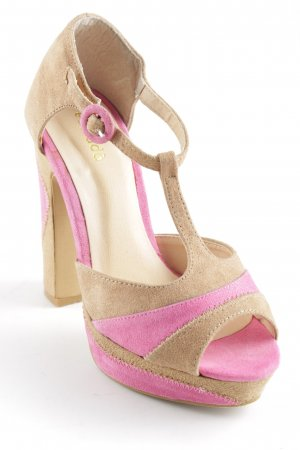 Plateau-Pumps beige-rosa Party-Look