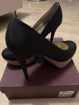 Cox Platform Pumps black-light brown