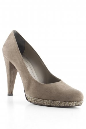 Plateau-Pumps graubraun Animal-Look