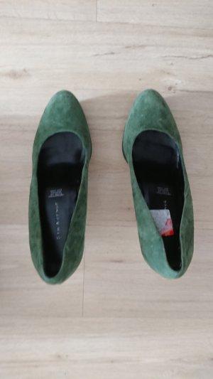 5th Avenue Escarpin à plateforme vert forêt-vert cuir