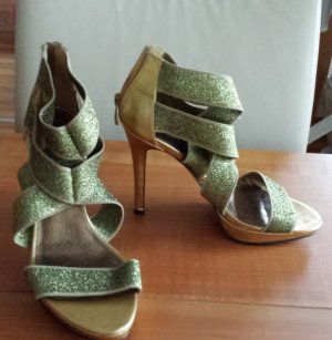 Plateau-Pumps High heels Sandaletten Gold von Blink
