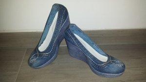 Plateau-Pumps Jeans