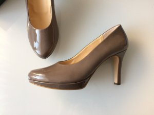 Plateau-Pumps  - Lackleder nude / taupe - Paul Green *NEU*