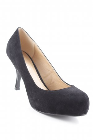 Plateau-Pumps schwarz Casual-Look