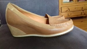 Geox Wedge Pumps beige-camel leather