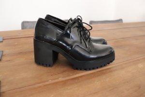 Zara Tacones con plataforma negro