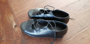 Plateauzool sandalen zwart Leer