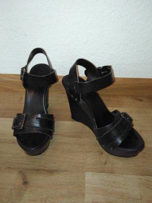 Plateau sandale schwarz von Zign