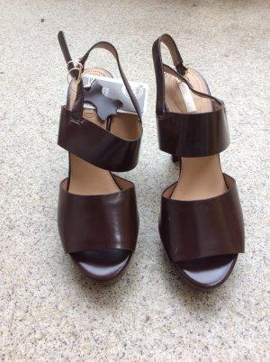 H&M Platform Sandals brown red