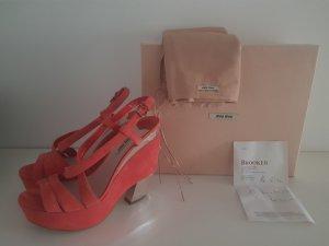Miu Miu Platform Sandals salmon