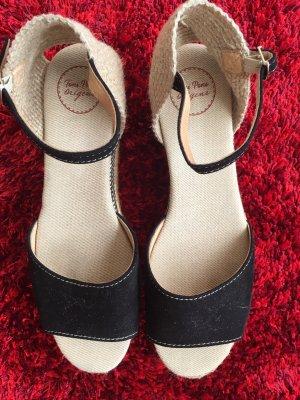 Platform Sandals black-camel