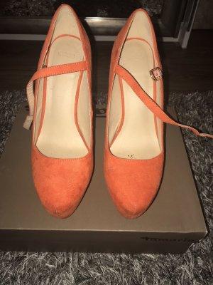 Asos Sandalias con plataforma naranja