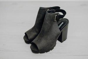 H&M Plateauzool sandalen zwart