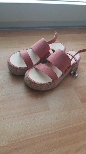 H&M Divided Sandales à talons hauts et plateforme or rose-beige