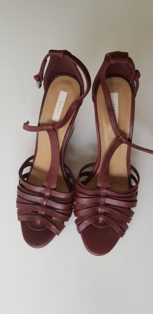 Zara Strapped Sandals bordeaux