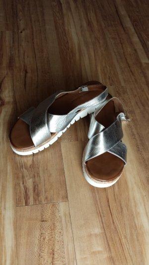 Andrea Sabatini Platform High-Heeled Sandal white-silver-colored