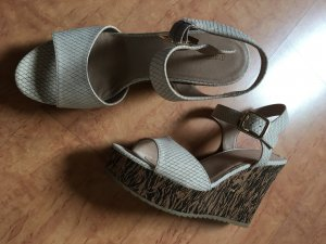 Graceland High-Heeled Sandals cream-brown