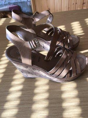 Deichmann Platform Sandals light brown