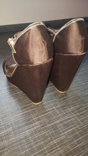 Wedge Pumps brown-sand brown