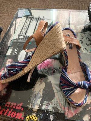 Görtz Shoes Sandales à plateforme multicolore